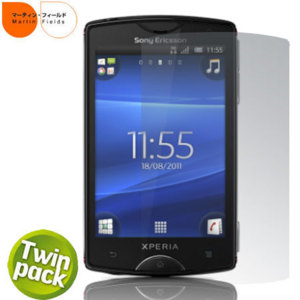 Martin Fields Screen Protector Twin Pack - Sony Ericsson Xperia mini