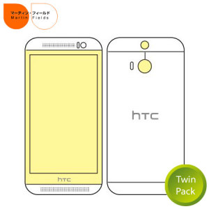 Martin Fields Twin Pack HTC One M8 Screen Protector