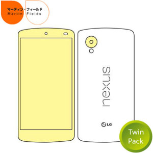 Martin Fields Twin Pack Screen Protector for Google Nexus 5