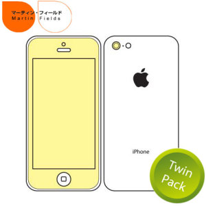 Martin Fields Twin Pack Screen Protector for iPhone 5c