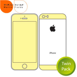 Martin Fields Twin Pack Screen Protector for iPhone 5S