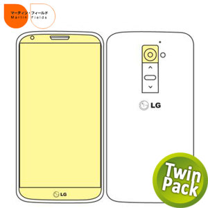 Martin Fields Twin Pack Screen Protector - LG G2