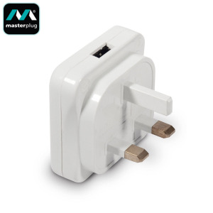 Masterplug Slim USB Mains Charger Adapter