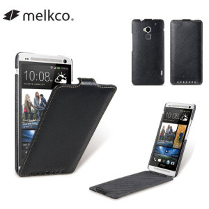 Melkco Premium Leather Flip Case for HTC One Max - Black