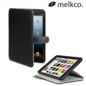 Melkco Premium Leather Stand Case for iPad Mini 2 / iPad Mini - Black