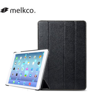 Melkco Slimme Genuine Premium Leather Cover for iPad Air - Black