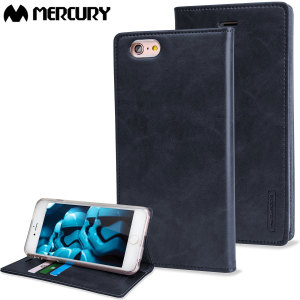 Mercury Blue Moon Flip iPhone 6S / 6 Wallet Case - Navy