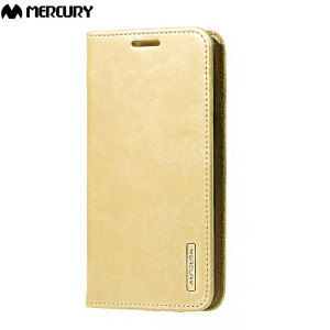 Mercury Blue Moon Flip Samsung Galaxy J5 2015 Wallet Case - Gold