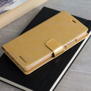 Mercury Blue Moon Huawei P9 Plus Wallet Case - Gold