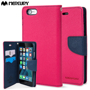 Mercury Goospery Fancy Diary iPhone 6S / 6 Wallet Case - Pink / Navy