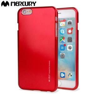 Mercury Goospery iJelly iPhone 6S / 6 Gel Case - Metallic Red