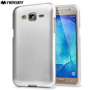 Mercury Goospery iJelly Samsung Galaxy J5 2015 Gel Case - Silver
