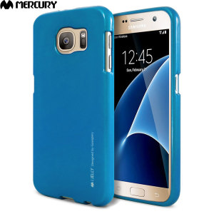 Mercury Metallic Silicone Finish Hard Case Samsung Galaxy S7  - Blue