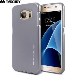 Mercury Metallic Silicone Finish Hard case Samsung Galaxy S7 Grey