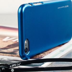 Mercury Metallic Silicone Finish Hard Case iPhone 6 / 6S Plus Blue