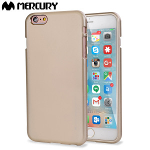 Mercury Metallic Silicone Finish Hard Case iPhone 6S / 6 Plus - Gold