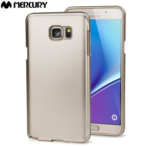 Mercury iJelly Samsung Galaxy Note 5 Gel Case - Metallic Gold