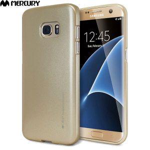 Mercury Metallic Silicone Finish Hard Case Samsung Galaxy S7 Edge-Gold