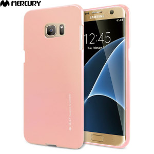 Mercury iJelly Samsung Galaxy S7 Edge Gel Case - Metallic Rose Gold