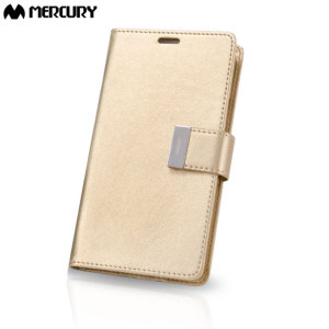 Mercury Rich Diary Samsung Galaxy J5 2015 Premium Wallet Case - Gold