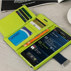 Mercury Rich Diary Samsung Galaxy Note 7 Premium Wallet Case - Navy