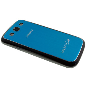 Metal Replacement Back for Samsung Galaxy S3 - Blue