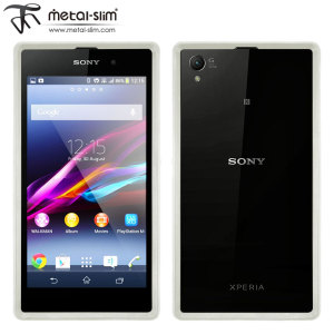 Metal-Slim Bumper Frame for Sony Xperia Z1 - White
