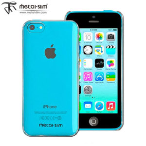 Metal-Slim Hard Case for Apple iPhone 5C - Clear