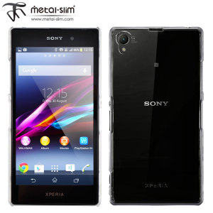 Metal-Slim Hard Case for Sony Xperia Z1 - Transparent