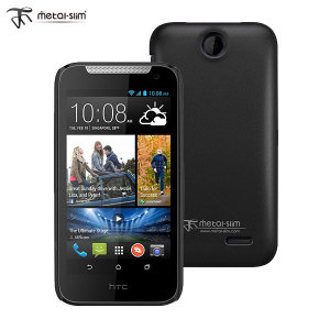 Metal-Slim HTC Desire 310 Rubber Case - Black