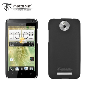 Metal-Slim Protective Rubber Case for HTC Desire 501 - Black