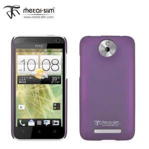 Metal-Slim Protective Rubber Case for HTC Desire 501 - Purple