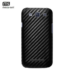 Metal-Slim PU Protective Case for Samsung Galaxy S3 - Clear / Black
