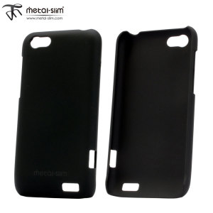 Metal-Slim Rubber Case for HTC One V - Black