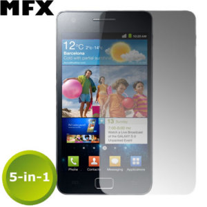 MFX 5-in-1 Screen Protector - Samsung Galaxy S2 i9100