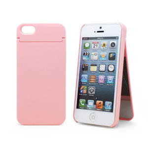 Vanity Light Case For Iphone : Mirror Card Case for iPhone 5 - Baby Pink
