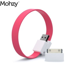 Mohzy Loop Micro USB & Apple iPhone / iPad / iPod Cable - Juicy Pink