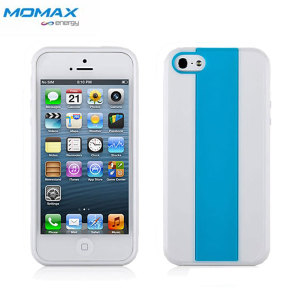 Momax i Case MX Case for iPhone 5S / 5 - White Edge with Blue
