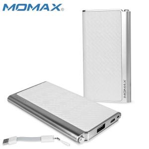 Momax iPower Elite Power Bank 5000mAh 2.1A - Embossed White
