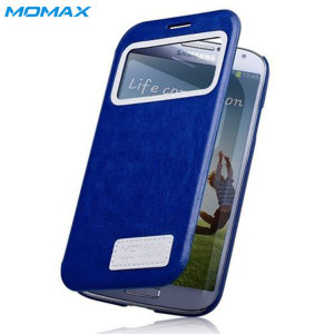 Momax Samsung Galaxy S4 Stand View Case - Blue