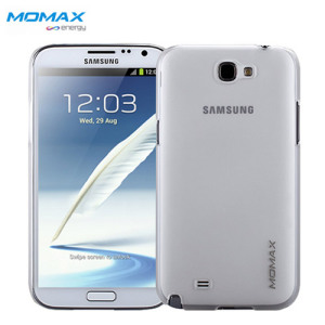 Momax Ultra-Thin Clear Touch Case for Galaxy Note 2 - White