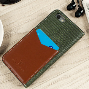 Moncabas Liza Genuine Leather iPhone 6S / 6 Wallet Case - Green