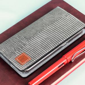 Moncabas Liza Genuine Leather Samsung Galaxy S7 Wallet Case - Grey
