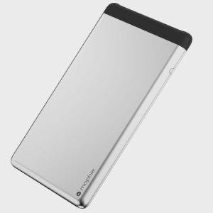 Mophie PowerStation 5X Dual USB 10,000mAh Power Bank - Aluminium