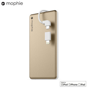 Mophie Powerstation Plus Mini 4000mAh Power Bank - Gold