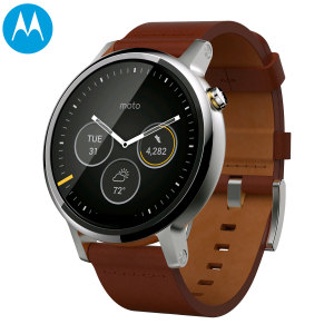 Motorola Moto 360 2nd Gen SmartWatch 46mm - Cognac Leather