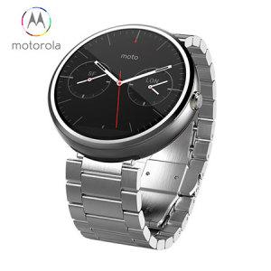 Motorola Moto 360 SmartWatch - Silver / White Metal