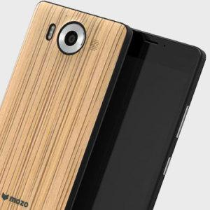 Mozo Microsoft Lumia 950 Wireless Charging Back Cover - Zebra Wood