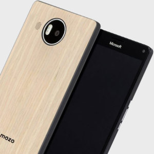 Mozo Microsoft Lumia 950 XL Wireless Charging Back Cover - Light Oak