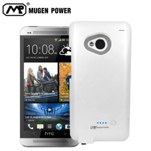 Mugen HTC One Dual SIM 5000mAh Extended Battery Case - White